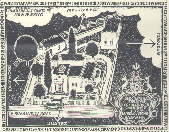 Baumann Greeting Card. From the Historic Home Tour brochure.