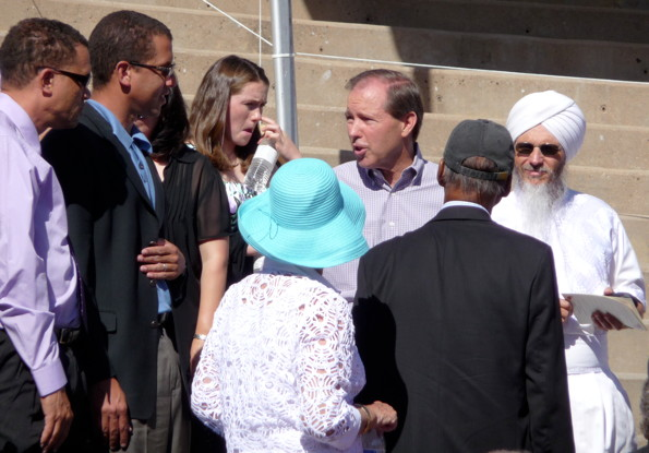 Senator Tom Udall at the Paolo Soleri, June 20, 2010